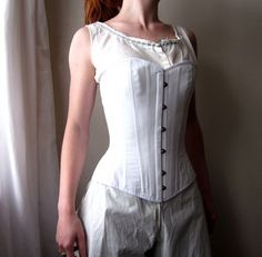 Victorian Corset cotton Civil War 1800's 1860's 1870's 1880's 1890's Historical Undepinning in custom size