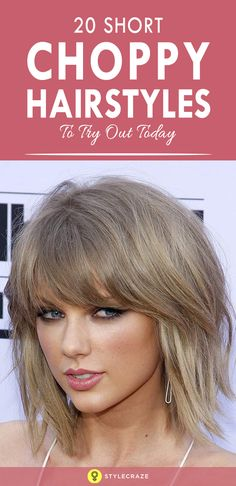 Messy, glam chic and flattering for most face-shapes, the choppy look is back! To help you out, here are the top 20 short choppy hairstyles that will be huge this season! Cute Bob Haircuts, Messy Bob Hairstyles, Popular Short Hairstyles, Blonde Haircuts, Face Shape Hairstyles, Popular Haircuts, Short Choppy Bobs, Messy Short Hair, Hair And Beauty Salon