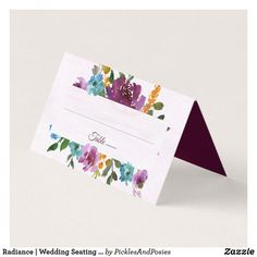 Radiance   Wedding Seating Place Cards Wedding Seating, Wedding Reception Decorations, Wedding Table, Wedding Places, Wedding Place Cards, Watercolor Wedding Invitations, Floral Invitation, Winter Wedding Invitations, Seating Cards