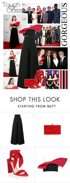 """""""2017 Tribeca Film Festival: """"The Circle"""" Premiere~ Karen Gillan"""" by snugget9530 ❤ liked on Polyvore featuring Vika Gazinskaya and Jimmy Choo"""