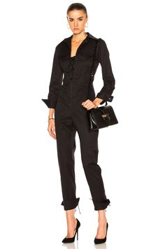 Monse Cotton Twill Jumpsuit in Black | FWRD