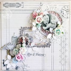 Layout by Steph Devlin for Prima using metal trinkets and resins