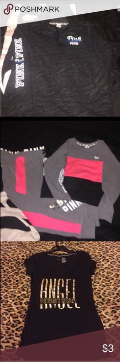 💖💖LYNN ONLY💖💖 Bundle pink outfit and pullover and vs shirt PINK Victoria's Secret Sweaters
