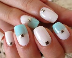 Love the little Square Nail Jewel!