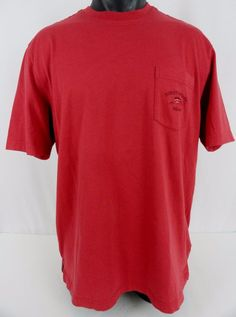 Tommy Bahama Mens M SS Red Bali High Tide T-Shirt Pocket Sailfish Logo 100% Pima #TommyBahama #BasicTee