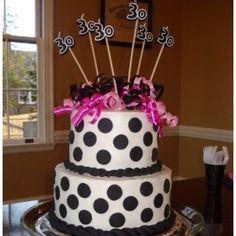 Polkadot cake 30th birthday