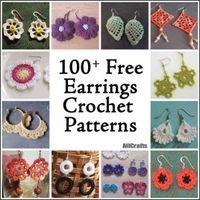 100+ Free Crochet Earrings Patterns More