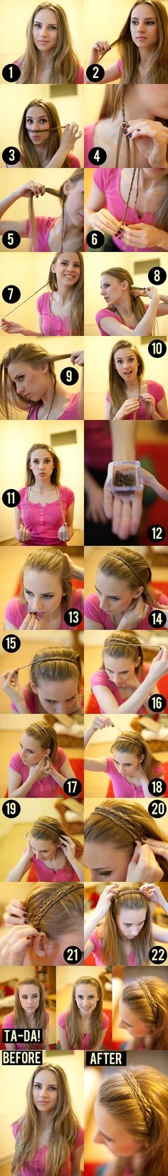 I want to try this hairstyle so bad. It seems just easy enough for an everyday look. Note: You need long hair to do this.