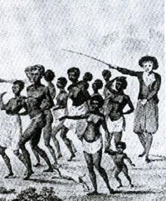 """DANCING THE SLAVES"" Slaves were forced to dance on the decks of the ships that brought them to the New World so that they would appear healthy on the auction block."