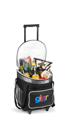 Perfect for outdoor. Holds 24 cans. Wide main zippered compartment with colour accented elastic design for easy access . Protruding front zippered compartment with white piping. Strong double carry h