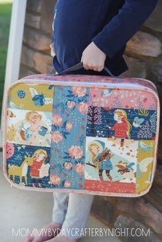Patchwork Suitcase Tutorial