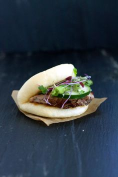 Pork Tenderloin Buns with Spicy and Tangy Fig Sauce by redshallotkitchen #Sandwich #Pork_Tenderloin #Fig