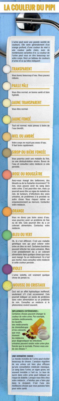 Analyser la couleur de votre pipi peut être très bénéfique pour la santé! Voici…