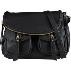 ALDO Minturno ($35) ❤ liked on Polyvore featuring bags, handbags, purses, accessories, black, bolsos, midnight black, aldo, zip purse and crossbody flap purse