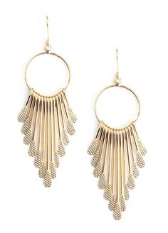 Hash Tab Earrings in Gold