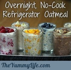 Overnight, No-Cook Refrigerator Oatmeal  Beverly ~ we gotta try this.  Wouldn't it be great to pack a couple of jars of this before heading down into Fish Creek Park for an early morning bike trek???  Or, to take when we head the car west for a hike along the Elbow River???  What do ya think?