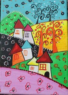 Hand-painted images. Fairytale lands. by BulbaDesign on Etsy