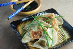 Make Way for Dumplings [Cooking with Kids] by foodieparent: Made with round wonton wrappers. #Chicken_Dumplings #Wontons #Kids #foodieparent