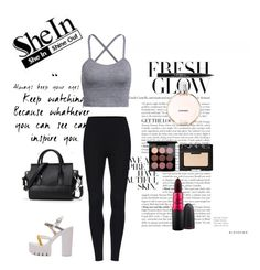 """SheIn #1 "" by genevaoce ❤ liked on Polyvore featuring MAC Cosmetics, NARS Cosmetics, Chanel and Trish McEvoy"