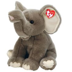 "Ty Stuffed Animals Collectibles | Ty Classic 15"" Quake Elephant (disc)"