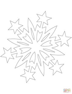 Snowflake Pattern with Christmas Stars Christmas Templates, Easy Christmas Crafts, Christmas Projects, Simple Christmas, Christmas Stars, Paper Snowflake Patterns, Snowflake Template, Paper Snowflakes, Applique Patterns