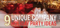 If you are looking for unique corporate holiday party themes, here are nine very different ideas that will get your group into the holiday spirit. Work Christmas Party Ideas, Christmas Party Themes, Office Holiday Party, Xmas Party, Holiday Parties, Corporate Christmas Party Ideas, Holiday Ideas, Christmas Stuff, Christmas Holiday