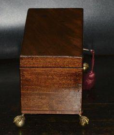 Antique English Georgian period Mahogany Tea Caddy Box C.1785   Etsy Antique Items, Vintage Items, Tiny Shop, Tea Caddy, Jewelry Case, Green Velvet, Georgian, Vintage Antiques, Period