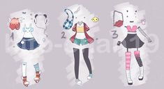 [Auction][CLOSED] Outfit Batch 7 by hito-chan19.deviantart.com on @DeviantArt