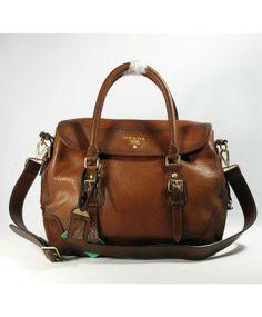 shopper sac Prada en cuir de veau café léger 88209 85f4be694ab
