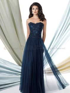 A-line Sweetheart Beading Sleeveless Floor-length Tulle Mother of the Bride Dressesses