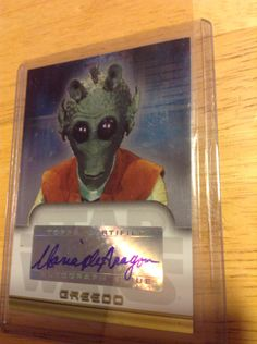 Maria De Aragon Greedo Autographed Card Star Wars Episode IV