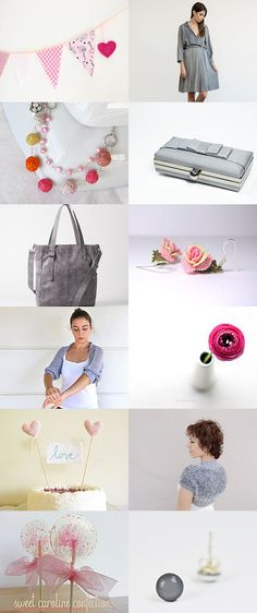 Pink and grey by Anat Dahari on Etsy--Pinned with TreasuryPin.com