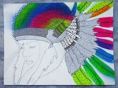 Ilustración terminada... the Universe (is) inside us. 2013 Luna Portnoi by LuNa Portnoi.Marcovsky, via Flickr