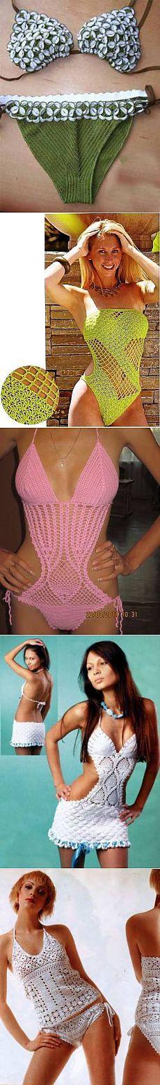 Вязание купальников и пляжных принадлежностей <!--if(Вязание для женщин)-->- Вязание для женщин<!--endif--> - Схемы вязания крючком и спицами - Вязание