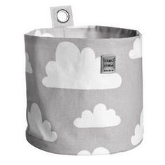 Farg Form grey cloud print storage for baby nursery storage and children's rooms