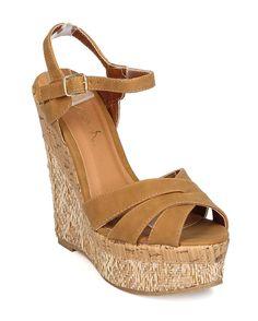 237f97bdef6e New Women Betani Edith-3 Leatherette Peep Toe Ankle Strap Platform Wedge  Sandal