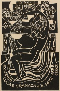 Bookplate (or ex libris) by Dusan Janousek.
