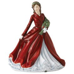 Royal Doulton – Deck The Halls Songs of Christmas – Petite Lady Figurines Deck The Halls Song, Beautiful Barbie Dolls, Little Ballerina, China Dolls, Royal Doulton, China Porcelain, Porcelain Doll, Porcelain Ceramics, Pretty Woman