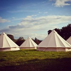 We love this. A pod of pads.  Pod' is the collective noun for SoulPad bell tents. This shot shows them in their natural habitat.