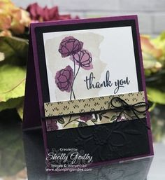 Stampin' Up! Love What You Do elegant sympathy card designed by Shelly Godby of www.stampingsmiles.com with Stampin' Up! Love What You Do Stamp Set