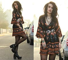 Get this look: http://lb.nu/look/8568403 More looks by Tessa Diamondly: http://lb.nu/tessadiamondly Items in this look: Romwe Boho Dress #bohemian #edgy #grunge