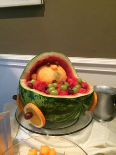 Baby carriage fruit bowl-baby shower or baby reveal!