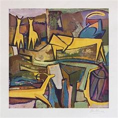 Walter Battiss Yellow afternoon Fun Art, Cool Art, Walter Battiss, South African Artists, Out Of Africa, Cubism, Exhibit, Masters, Yellow