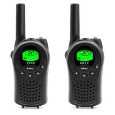 Walkie Talkies for Kids UOKOO Mini Radios Walkie Talkies, 22 Channel FRS/GMRS 400-470Mhz , Intelligent Alarm, Pair Black (668) -- This is an Amazon Affiliate link. You can find more details by visiting the image link.