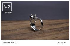 cat ring silver .925 Tangram, Cat Ring, Silver Rings, Silver, Cats