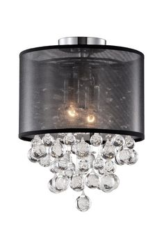 Shannon's new chandelier!  52152 – Two Lamp Ceiling with Clear Crystal Balls