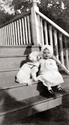 Dorothy Ames and her dog, 1917
