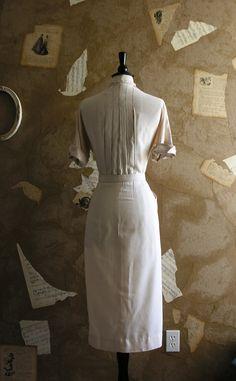 Vintage 1940s Style Safari Dress by VeryVintageStore on Etsy