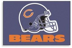 $13.99 - NFL Chicago Bears Helmet 20-Inch x 30-Inch Floor Mat - This NFL 20-Inch x 30-Inch Floor Mat is the perfect addition to any avid fan's home. This mat features the logo of your favorite NFL team and with a non-skid back, this mat is perfect for welcoming guests at your door.
