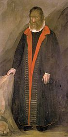 Petrus Gonsalvus - A gentleman suffering from hypertrichosis, his marriage to a woman of the royal courts inspired the Beauty and Beast novel.